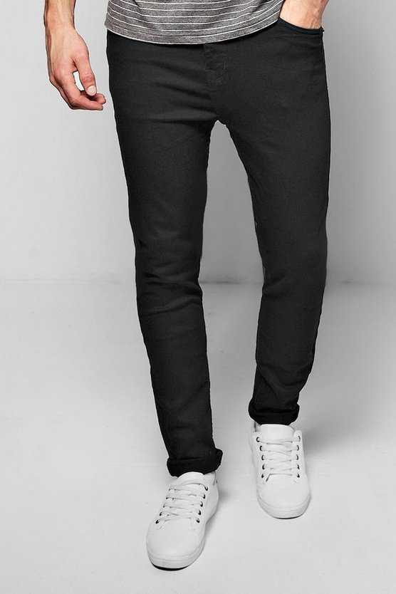 Mens Black Black Skinny Fit Jeans