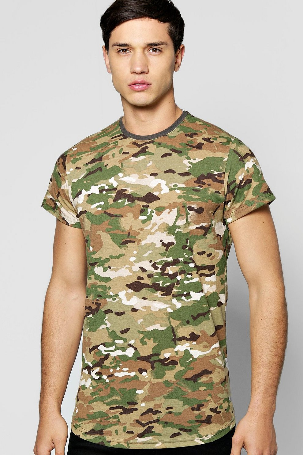 236bb1999 Camo Print T Shirt | Boohoo