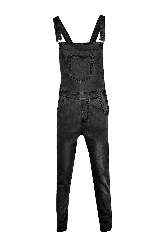 browse latest collections new product dependable performance Slim Fit Denim Dungarees - boohooMAN
