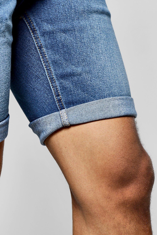blue Shorts Washed Fit Blue Skinny Denim wBn7aXgWq