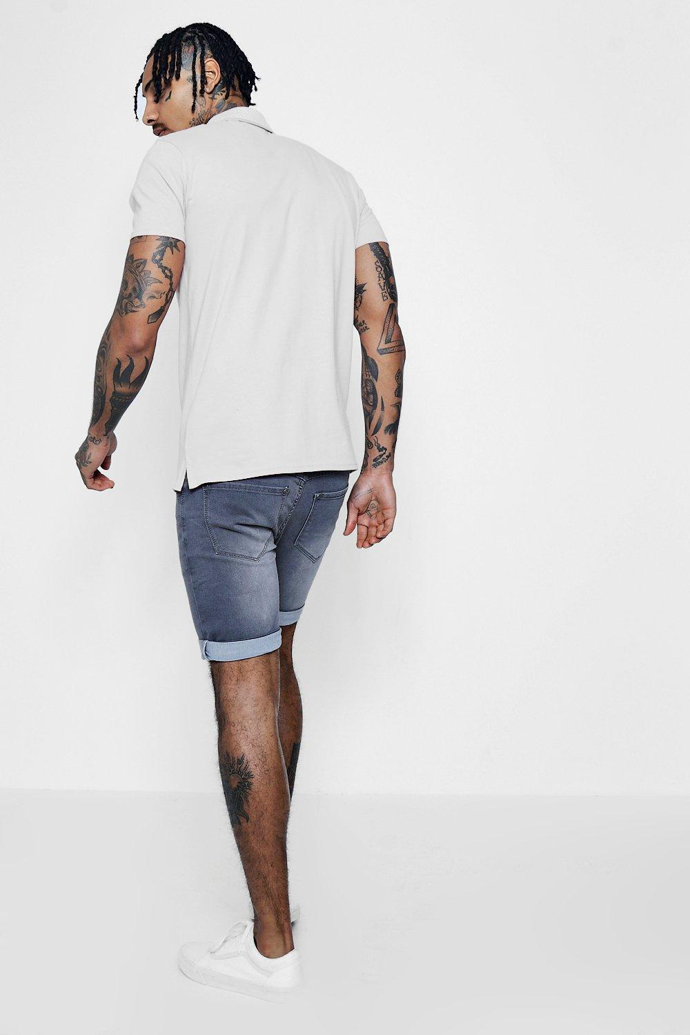 charcoal Shorts Washed Fit Charcoal Denim Skinny q0XHzvHw