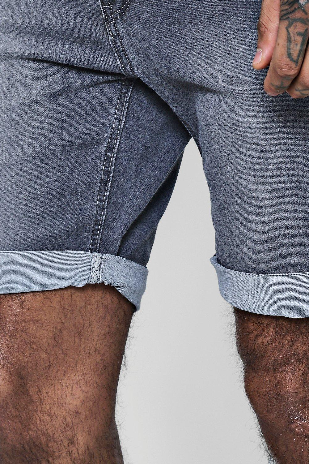 Skinny charcoal Denim Charcoal Fit Shorts Washed anxFaSw6