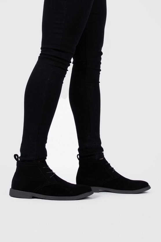 Mens Black Desert Boots