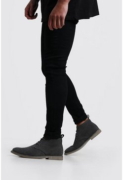 Mens Grey Desert Boots