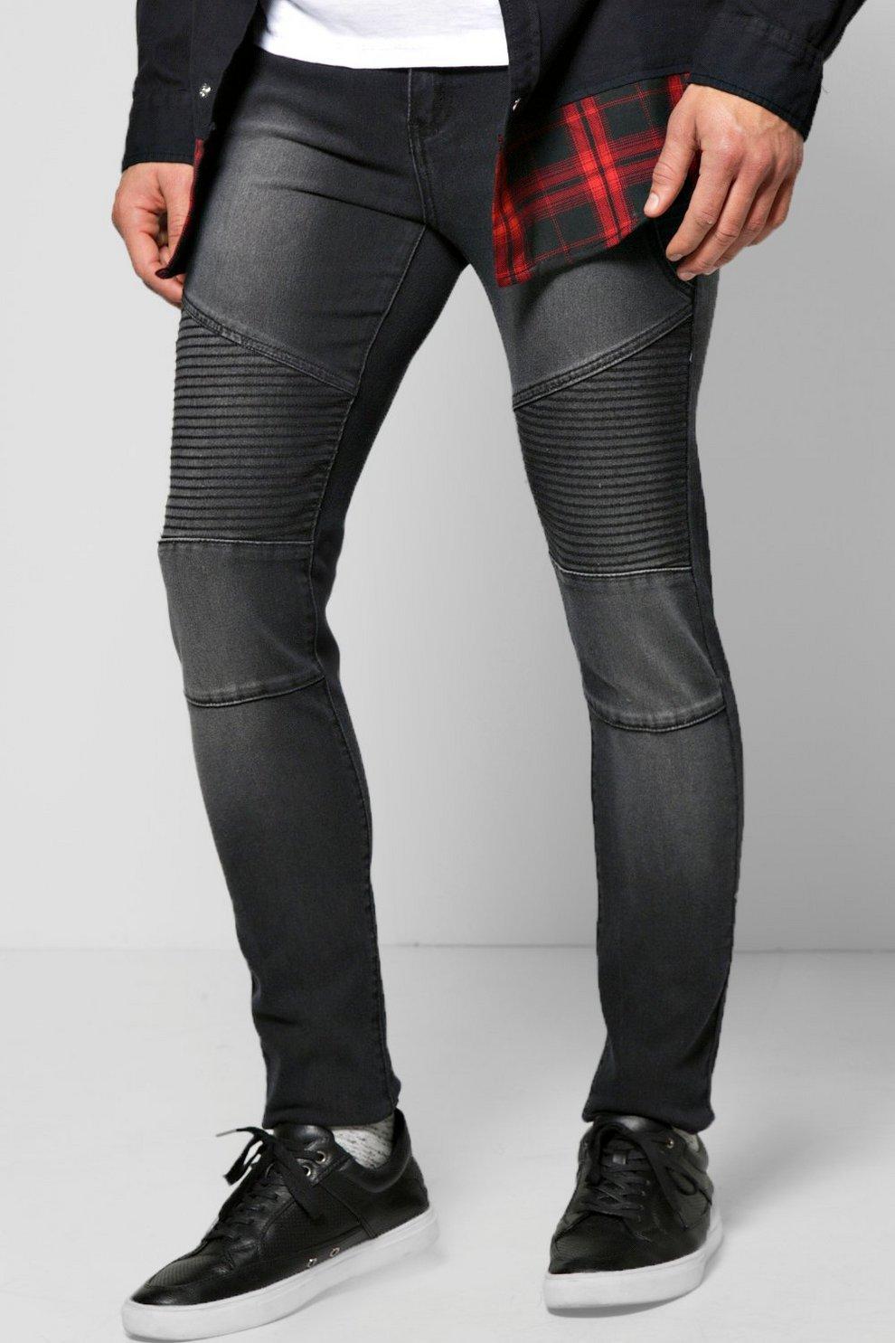 66a0c088effb3 Skinny Fit Biker Jeans | Boohoo