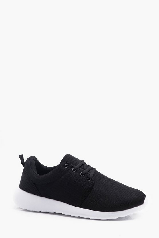 Mens Black Running Trainers