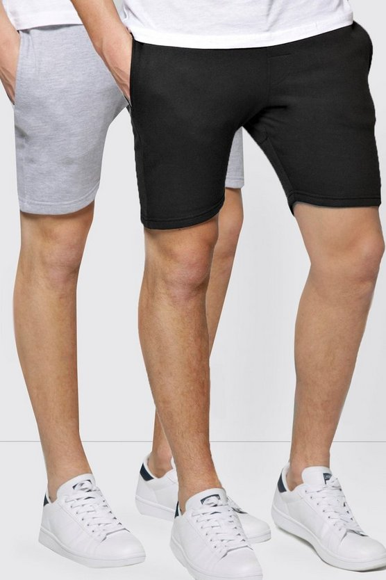 2 Pack Jersey Shorts in Skinny Fit