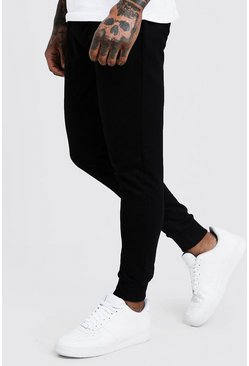 Herr Black Basic Skinny Fit Joggers