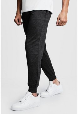Mens Charcoal Basic Skinny Fit Joggers
