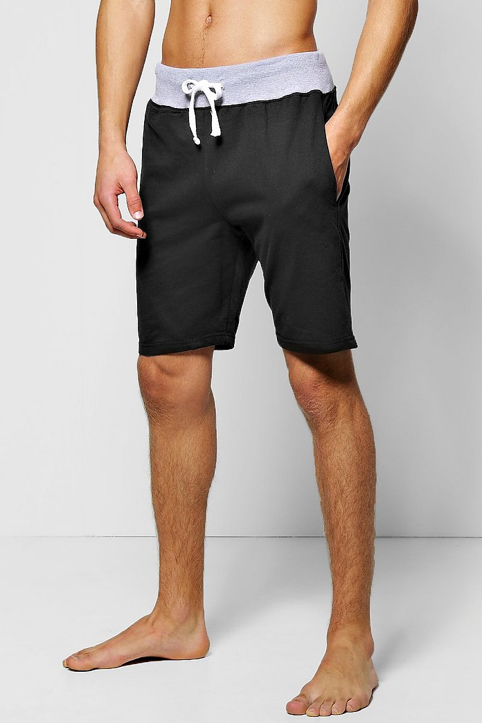 outlet boutique 50% off reputation first Lounge Shorts with Contrast Rib - boohooMAN