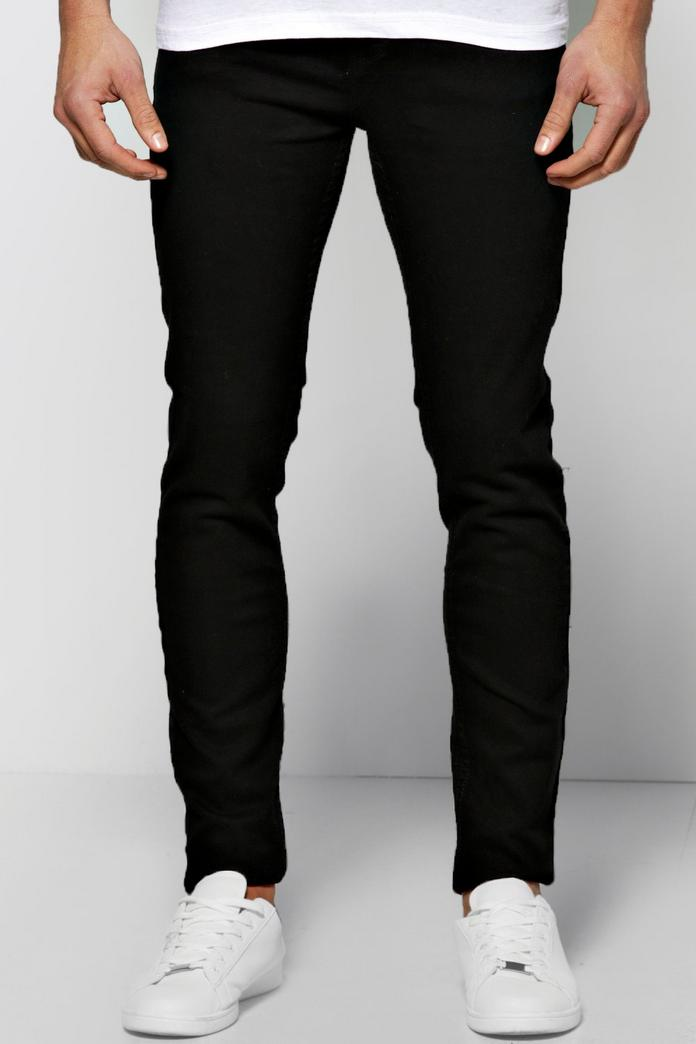 Black skinny fit joggers Jersey fabric Slim fit Back and side slip pockets Drawstring waistband Our model wears a UK 32 regular and is cm/6''' tall Black skinny fit joggers Jersey fabric Slim fit Back and side slip pockets Drawstring waistband Our model wears a UK 32 regular and is .