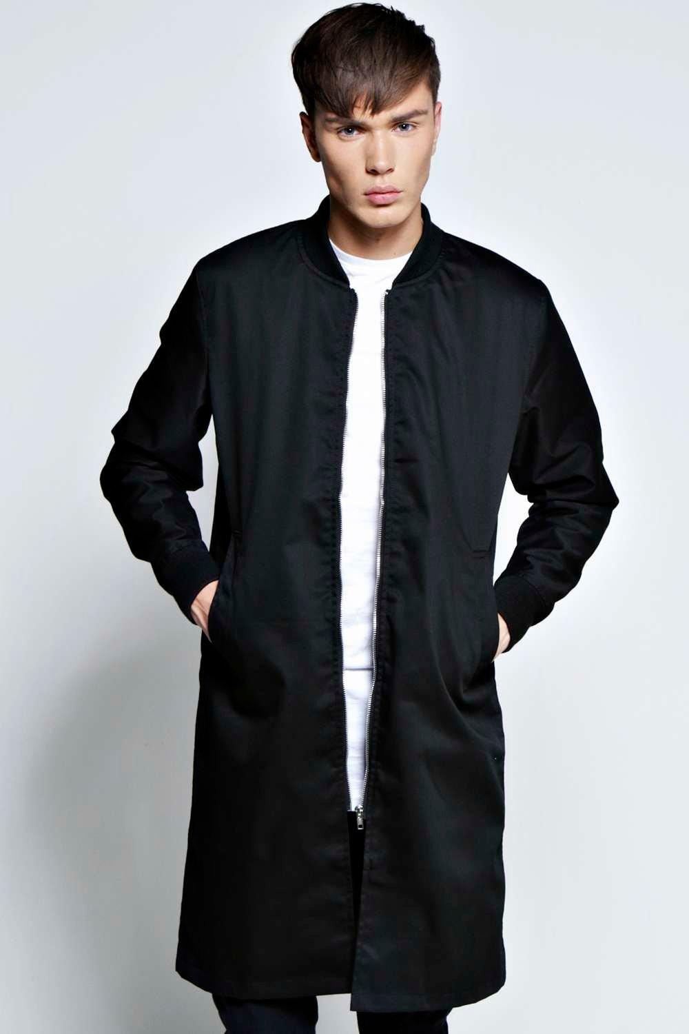 Mens Long Bomber Jacket Designer Jackets