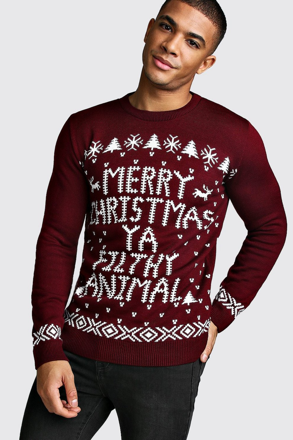 merry christmas ya filthy animal jumper - Merry Christmas Ya Filthy Animals