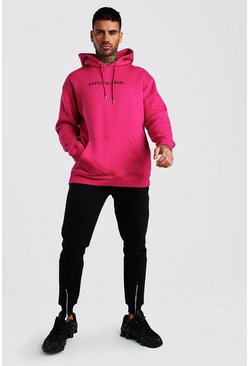 Pink Contrast Official MAN Loose Fit Tracksuit