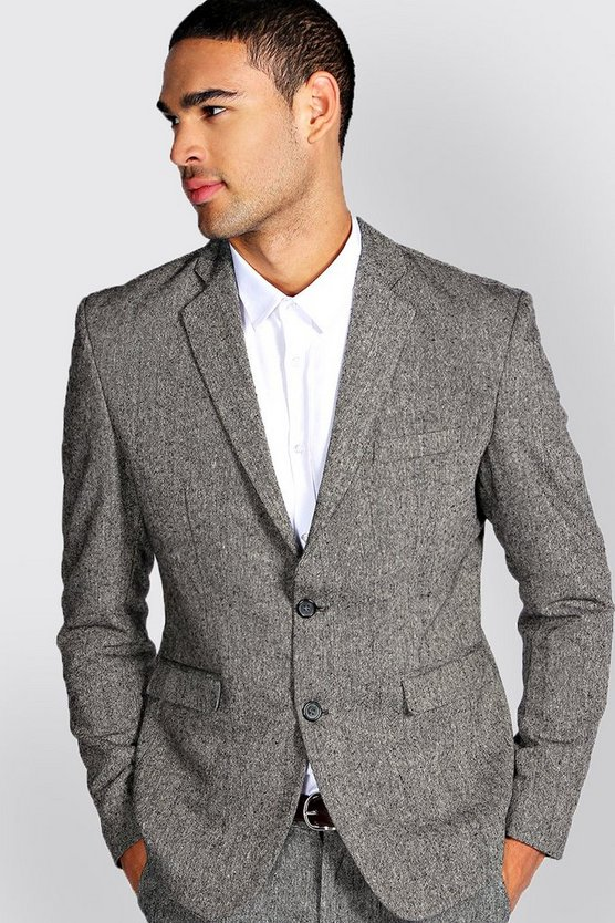 BLAZER IN TWEED A VESTIBILITÀ SLIM