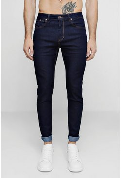 Mens Raw Indigo Skinny Smart Jeans