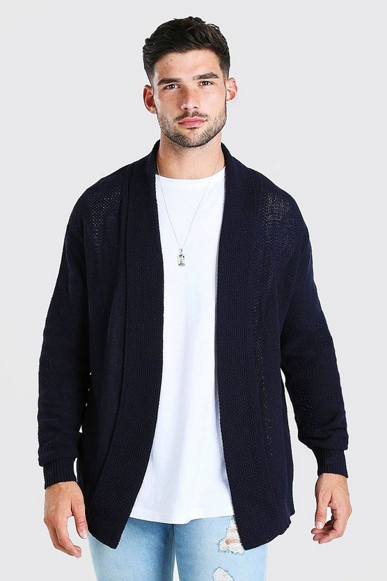 Textured Edge To Edge Cardigan
