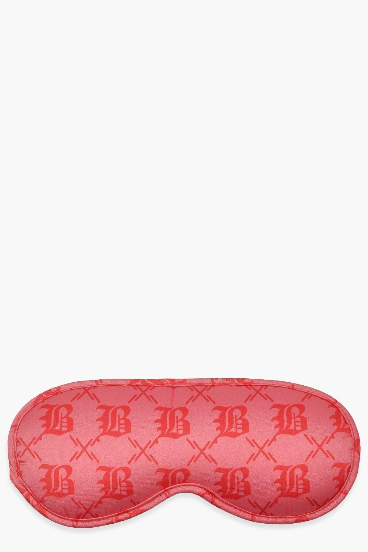 boohoo Womens Boohoo Print Satin Eye Mask - Pink - One Size, Pink