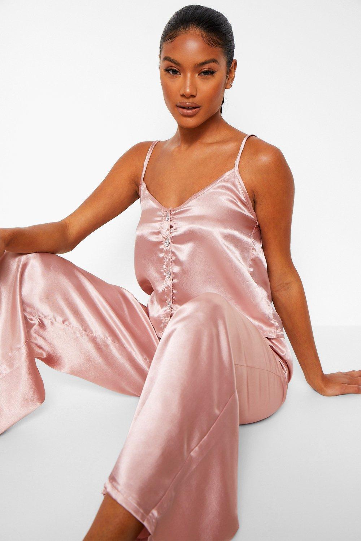 Vintage Nightgowns, Pajamas, Baby Dolls, Robes Womens Premium Diamante Button Set - Metallics - 10 $45.00 AT vintagedancer.com