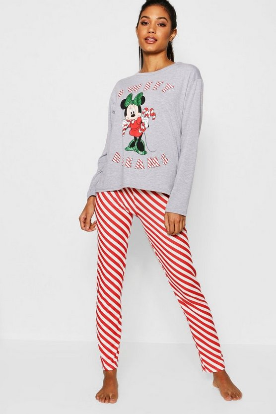 Disney Minnie Candy Cane Stripe PJs