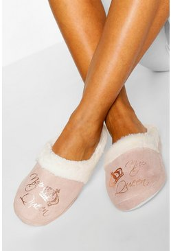 Cream Nap Queen Slippers