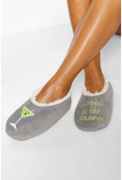 Blue Martini Slipper Socks