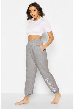 Bride To Be Loopback Joggers, Grey