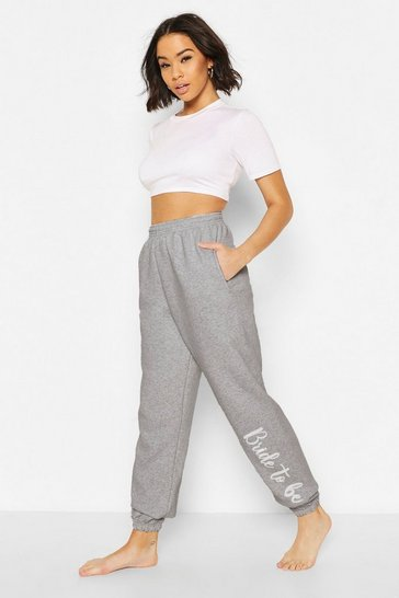 Grey Bride To Be Loopback Joggers