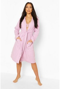 Lilac Waffle Dressing Gown
