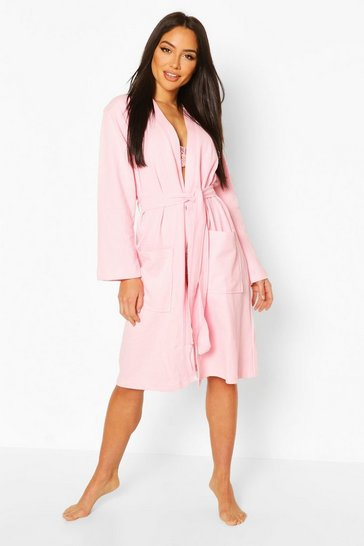 Pink Waffle Dressing Gown