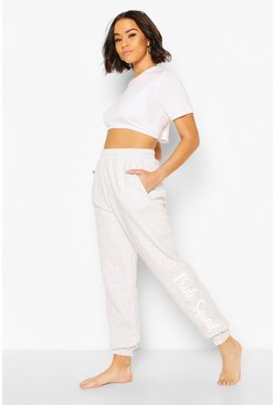 Grey Bride Squad Loopback Joggers