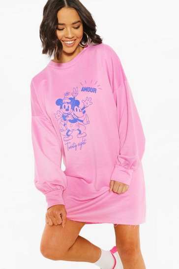 Pink Disney Minnie & Mickey Sweatshirt Dress