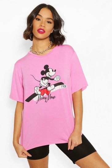 Pink Disney Mickey T Shirt