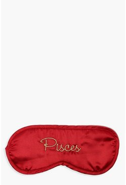 Red Pisces Satin Sleep Mask