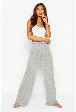 Grey marl Mix & Match Super Soft Wide Leg Lounge Pant