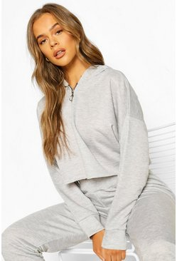 Grey marl Mix & Match Loopback Lounge Hoodie