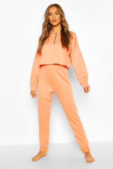 Coral Mix & Match Loopback Lounge Joggers