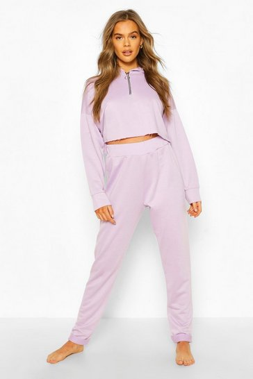 Lilac Mix & Match Loopback Lounge Joggers