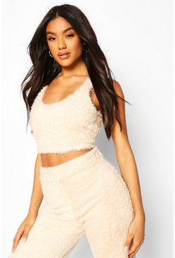 Crop top lounge duveteux premium, Roche