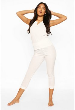 White Mix & Match Ribbed PJ Leggings