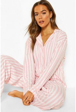 Pink Candy Stripe Jersey PJ Set