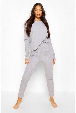 Grey Mix & Match Ribbed PJ Bottoms