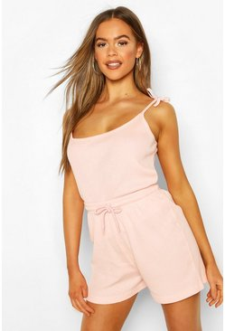 Blush Mix & Match Ribbed PJ Vest
