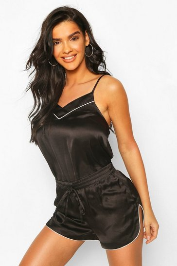 Black Mix & Match Satin Cami