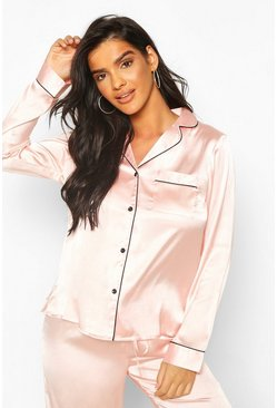 Mix & Match Pyjamahemd, Rotgold