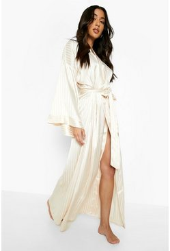 Blush Tonal Satin Oversized Sleeve Robe