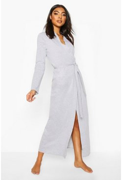 Grey Jersey Longline Night Robe