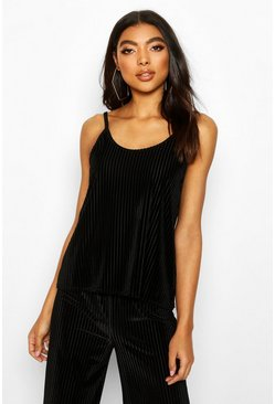 Black Velvet Rib Lounge Cami Top