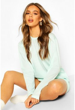Sage Long Sleeve Lounge Short Set