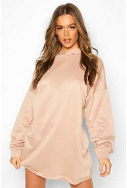 Stone Oversized Lounge Hoodie Sweat Dress
